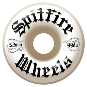 Spitfire Por Vida Skateboard Wheels - White