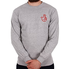National Skateboard Co Winning Long Sleeve T shirt - Grey