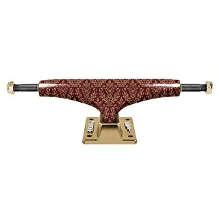 Thunder Hi 149 Hollow Lights Bronze Elites Skateboard Trucks - Burgundy/Gold