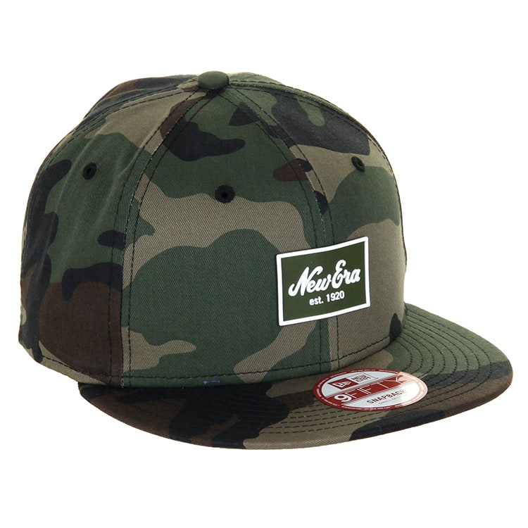 New Era 9Fifty Patched Tone Cap - Woodland Camo/Camel
