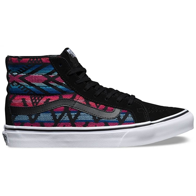 Vans Sk8-Hi Slim Womens Shoes - (Moroccan Geo) Black/White