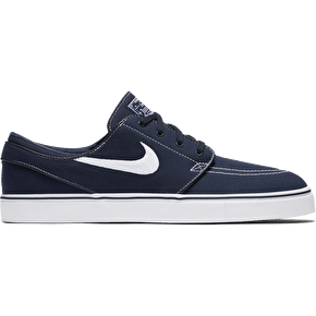 Nike SB Zoom Stefan Janoski Canvas Shoes - Obsidian/White
