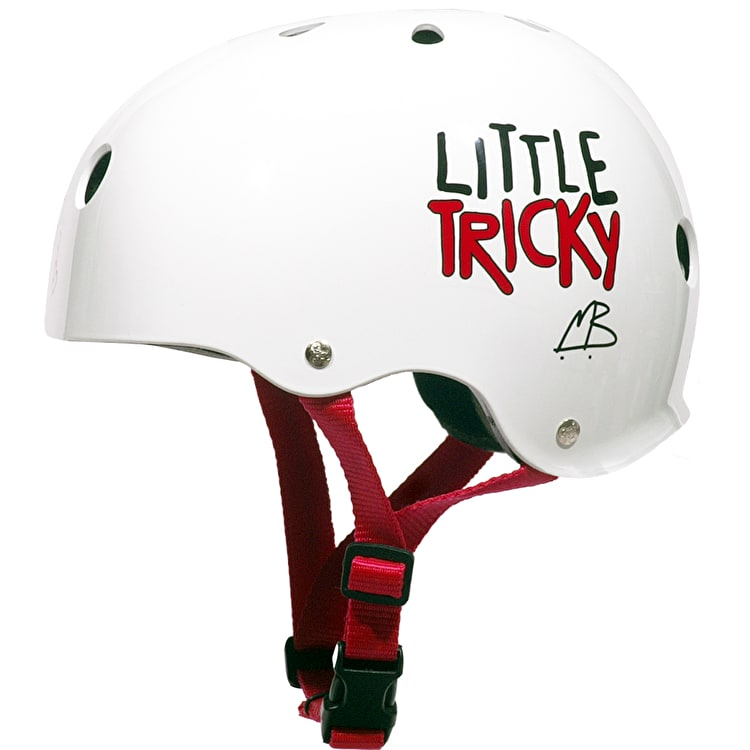 "Triple 8 ""Little Tricky"" Junior V2 Helmet White Rubber"