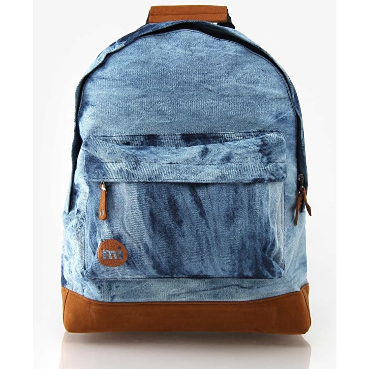 Mi-Pac Denim Acid Dye Backpack - Blue