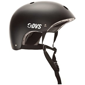 B-Stock DVS Logo Helmet - Black/White (48-54cm) (Box Damage)