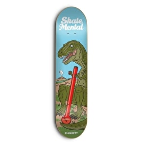 Skate Mental Skateboard Deck - T-Rex Plunkett Blue/Green 8.25