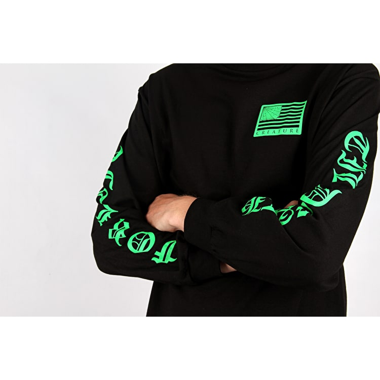 Creature United We Lurk Long Sleeve T Shirt - Black
