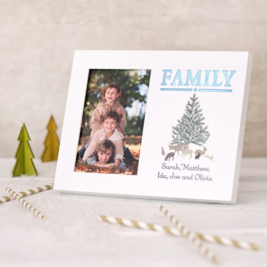 Festive Family Light Up Photo Frame