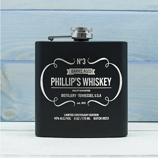 Personalised Whiskey Vintage Style Hip Flask