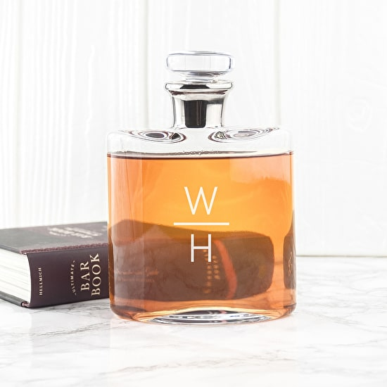 Magnificent Monogrammed L S A Decanter