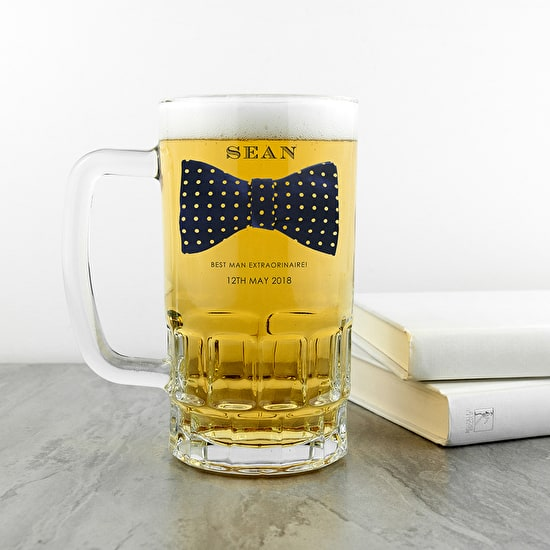 Personalised Bow Tie Tankard