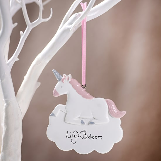 Personalised Unicorn Hanging Ceramic Decoration