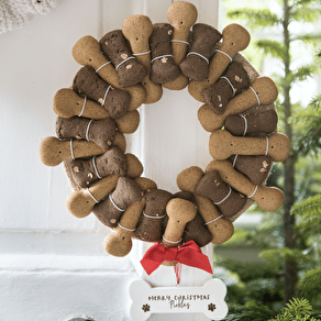 Personalised Refillable Dog Biscuit Wreath