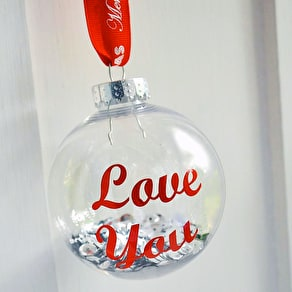 Personalised Typographic Bauble