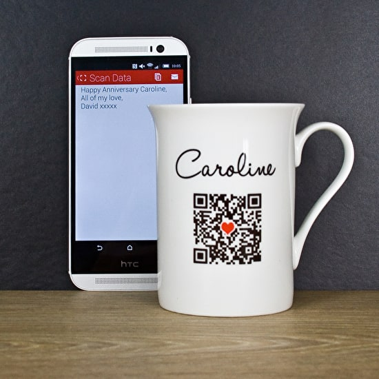 Personalised Secret Message 'Qr Code' China Mug