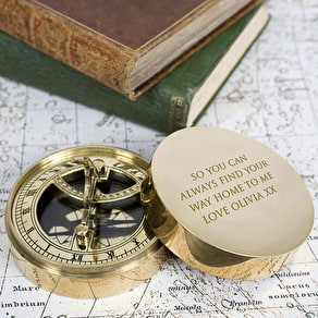 Adventurer's Personalised Sundial & Compass