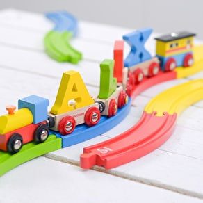 Colourful Train Track