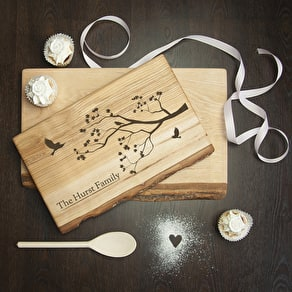 Family Tree Wood Serving Board