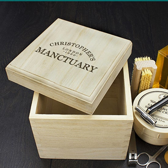 Personalised 'Manctuary' Storage Box