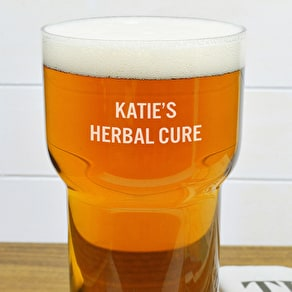 Personalised LSA Pint Glass With Ash Wood Coaster