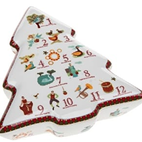 12 Days Of Christmas Ceramic Trinket Box