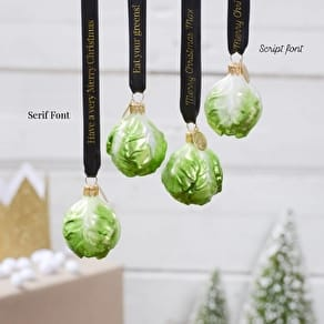 Personalised Brussels Sprout Vegeta Bauble