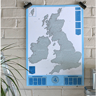 Scratch Map UK And Ireland