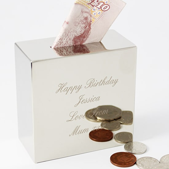 Personalised Engraved Money Box