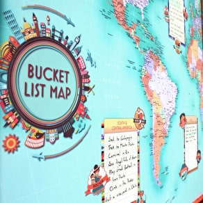 Personalised World Bucket List Map