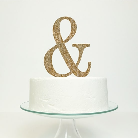 Ampersand Wedding Cake Topper