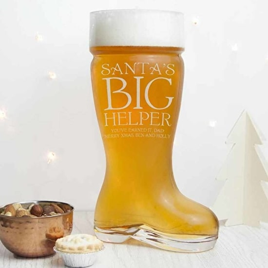 Personalised Super Large Santa's Boot Beer Glass