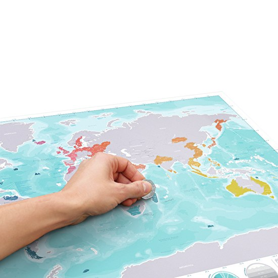 Oceans Scratch Map