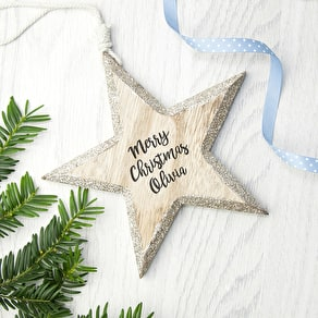 Personalised Sparkling Christmas Decoration