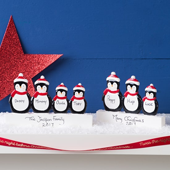 Personalised Penguin Freestanding Decoration