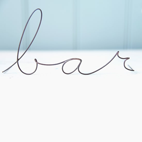 Delicate Wire Words