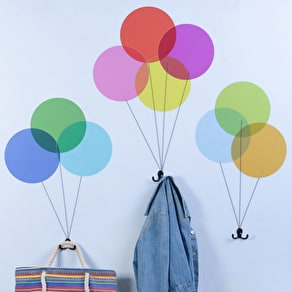Balloon Sticker Coat Hooks