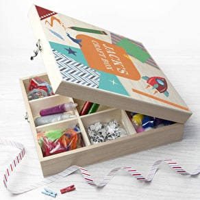 Personalised Boys Craft Box