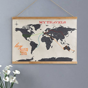 Map Cross Stitch Wall Hanging