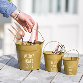 Personalised Buckets For Daddy And Me And Me