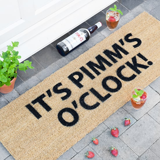 It's Pimms O'Clock Patio Doormat