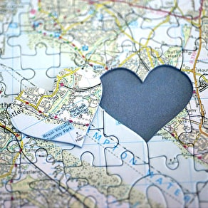 Personalised Location 'Love You' Map Jigsaw