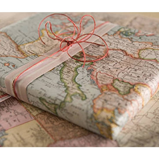 Vintage Inspired World Map Wrapping Paper