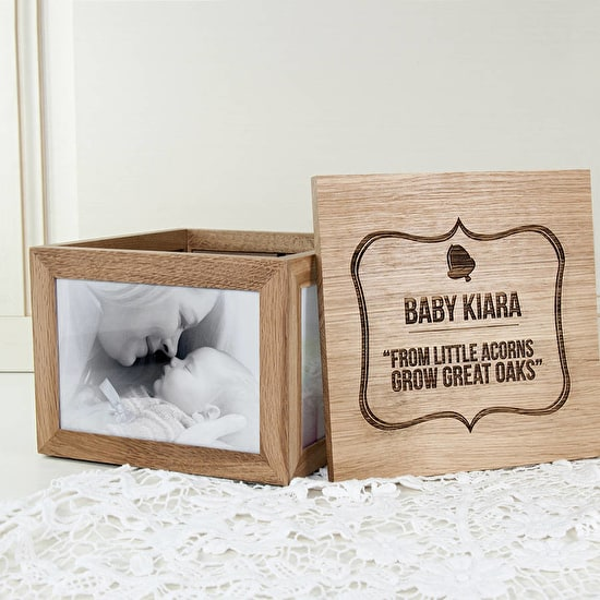 Personalised 'Little Acorns' Large Keepsake Box
