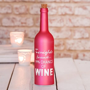 Pink LED Light Up Wine Bottle