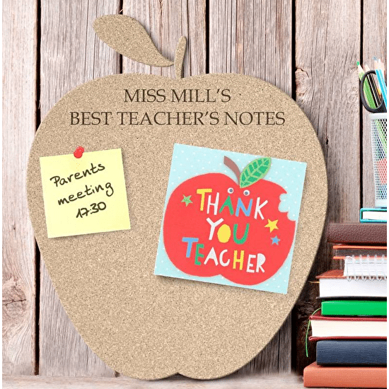 Personalised Large Cork Apple Pin Board