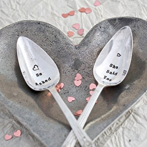 Wedding Silver Plated Vintage Spoon Set