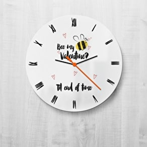 Bee My Valentine Clock