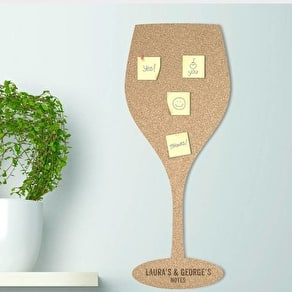Personalised Wine Glass Cork Noticeboard