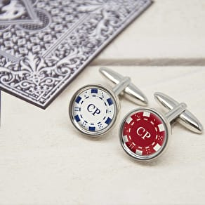 Personalised Poker Chip Cufflinks