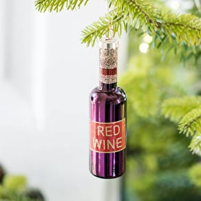 Red Wine Bottle Christmas Decoration
